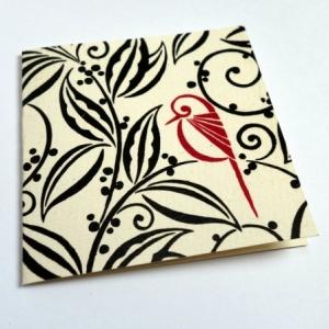 Carte L'oiseau rouge