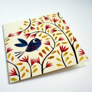 Carte Le bel oiseau bleu