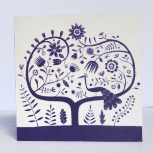 Carte Paon bleu