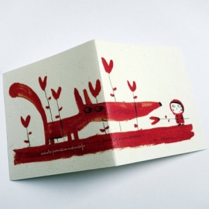 Carte Le loup rouge