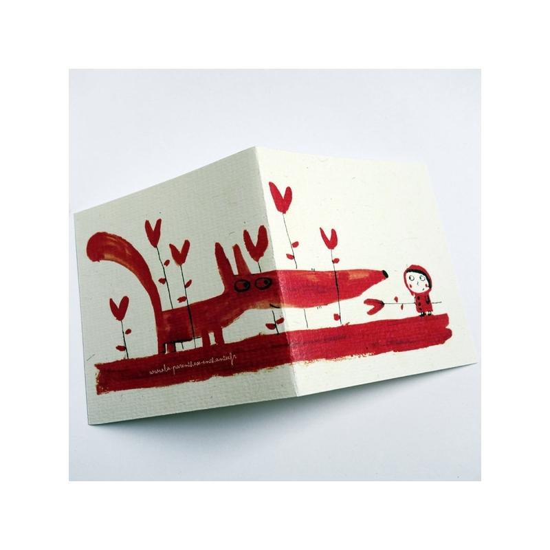 Carte Le loup rouge