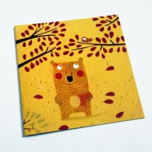 Carte Un ours en automne
