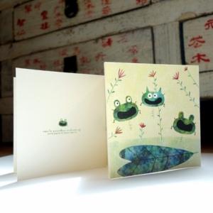 Carte Les grenouilles