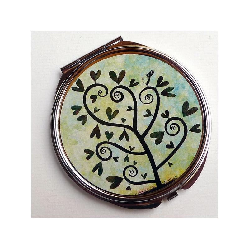 Miroir de poche Arbre à spirales