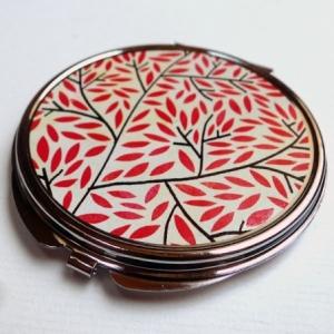 Miroir de poche Feuillage rouge