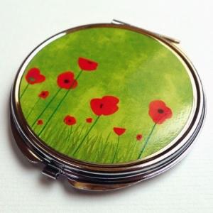 Miroir de poche Coquelicots verts
