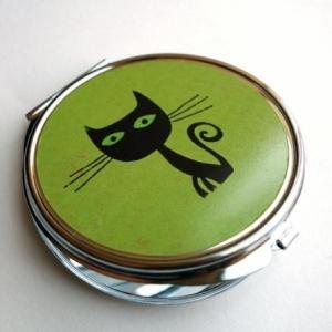 Miroir de poche Le chat Voltaire