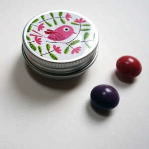 Pilulier Bel oiseau rose
