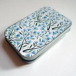 Boîte à miscellanées Fleurs bleues