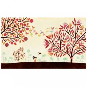 Affiche Les oiseaux et les arbres