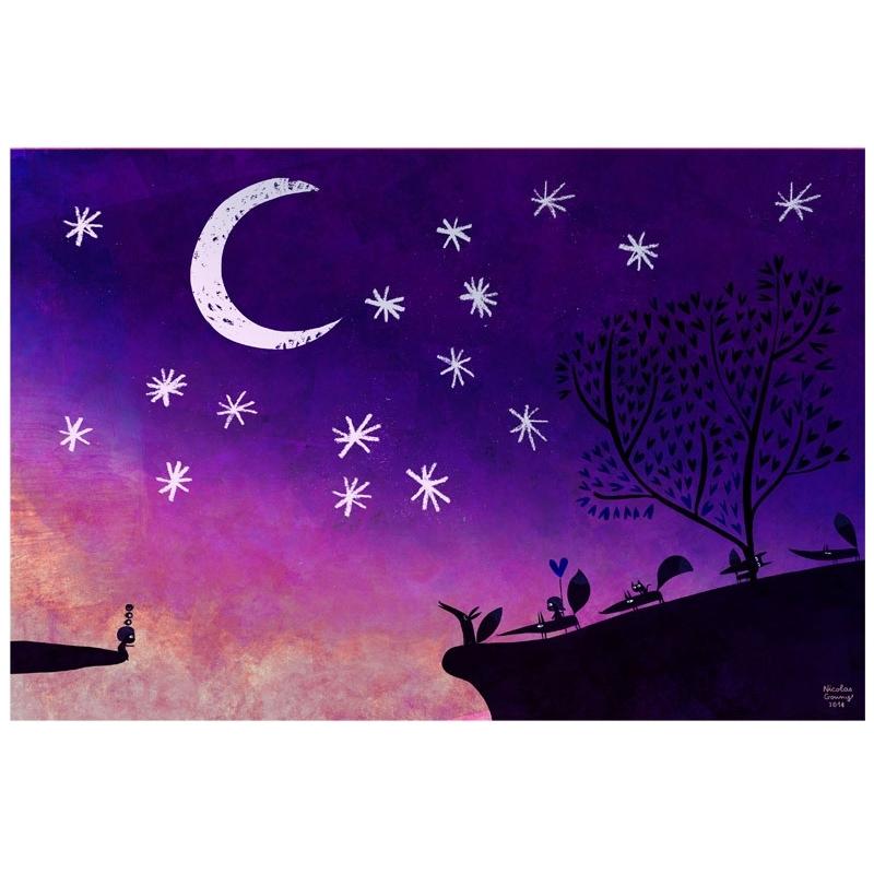 Affiche La nuit bleue
