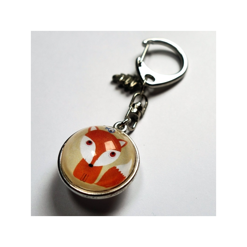 Porte-clé prénom Petit renard