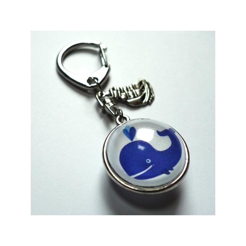 Porte-clé prénom Baleine bleue