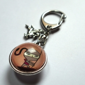 Porte-clé prénom Petite ninja