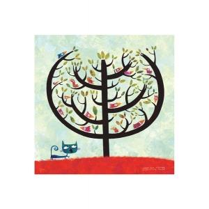 Affichette L'arbre aux oiseaux