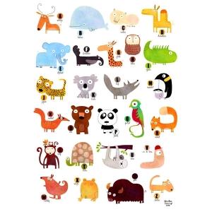 Affichette Abécédaire des animaux