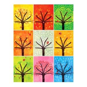 Affichette Neuf arbres