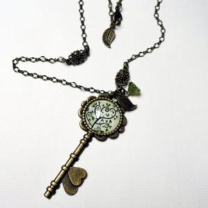 Collier clé Arbre à spirales