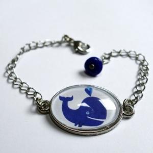 Bracelet enfant Baleine bleue