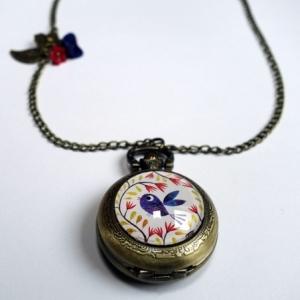 Collier montre Bel oiseau bleu