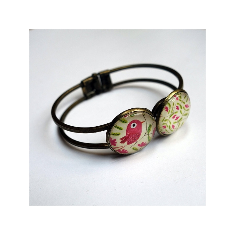 Bracelet Bel oiseau rose