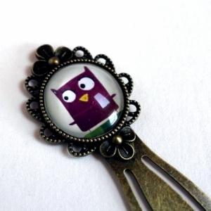Marque-page Chouette violette