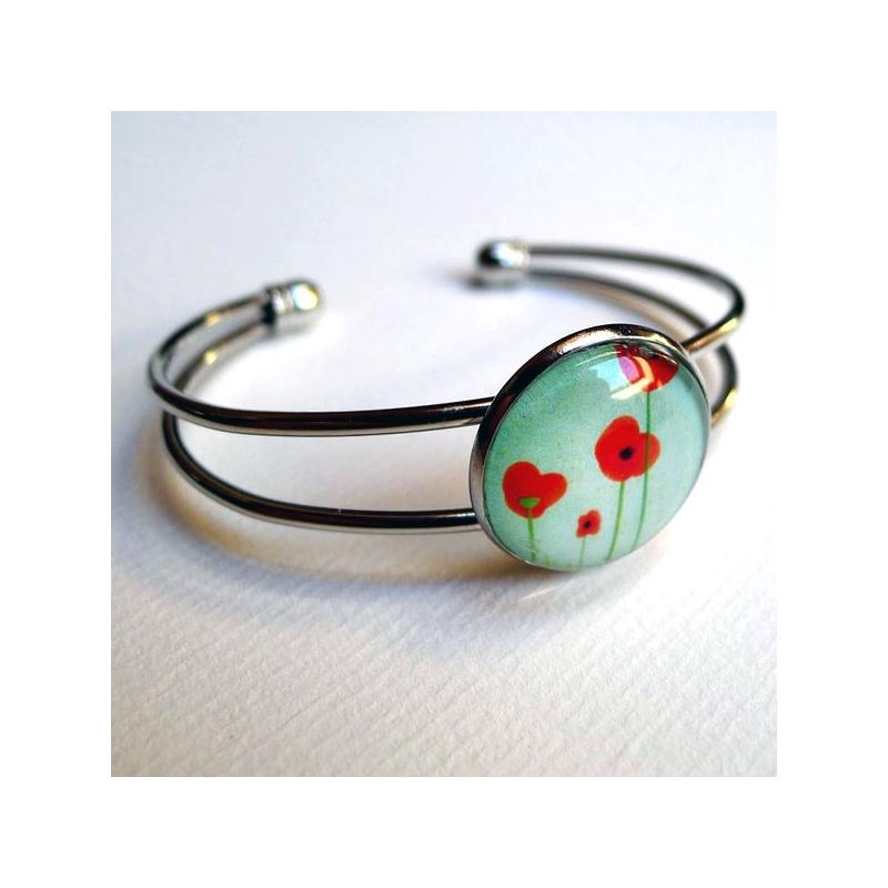 Bracelet Coquelicots bleus