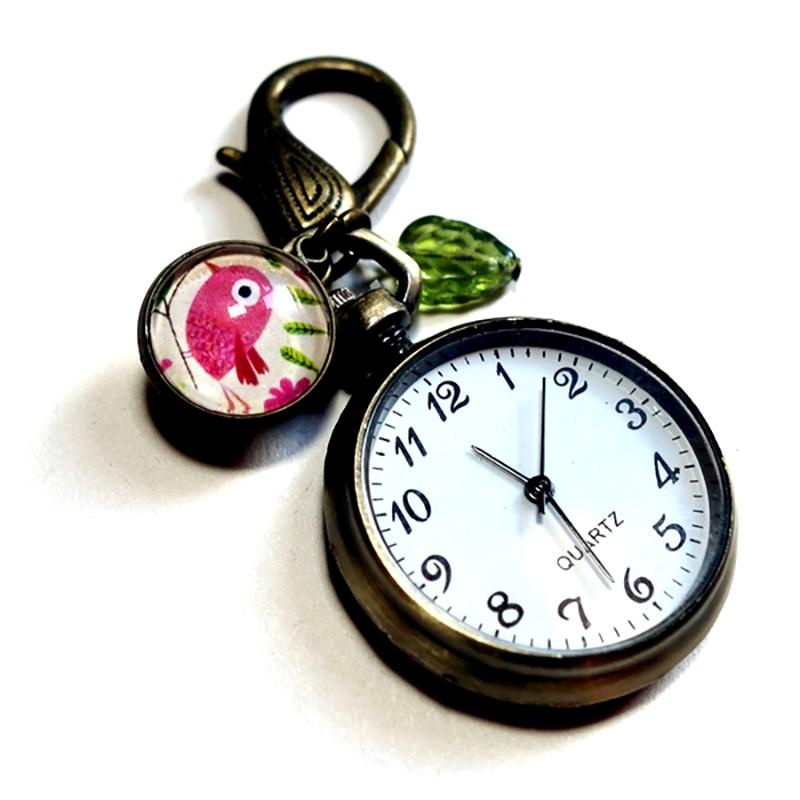Montre de sac Le bel oiseau rose