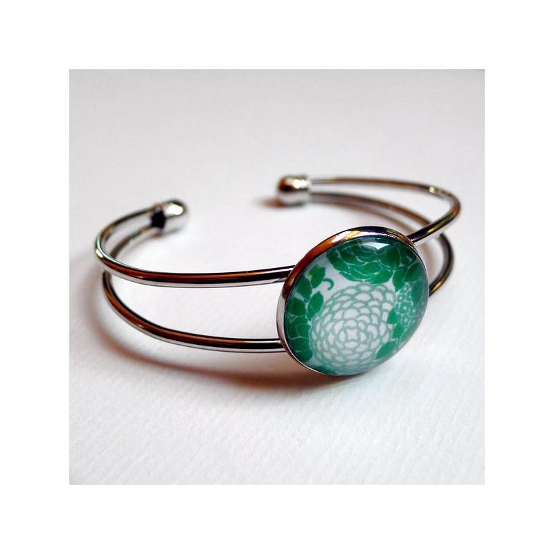 Bracelet Hortensias verts