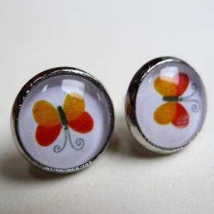Boucles d'oreilles Papillons oranges