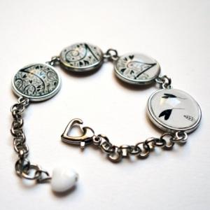 Bracelet Les coeurs noirs