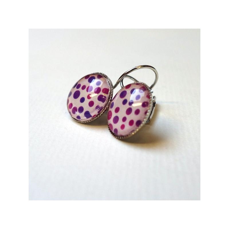 Boucles d'oreilles Les points violets