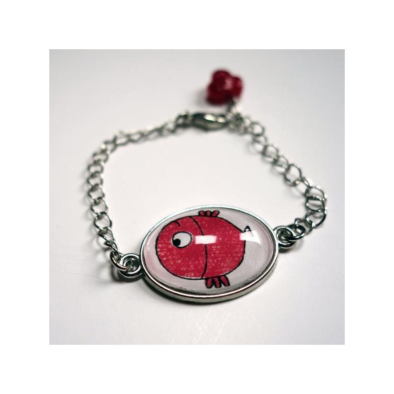 Bracelet enfant Poisson rouge