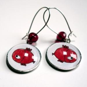 Boucles d'oreilles Poisson rouge