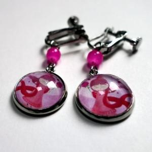 Boucles d'oreilles La princesse rose