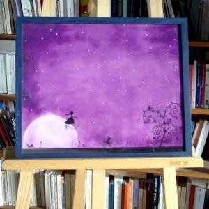 Affiche 40x50 Lever de lune