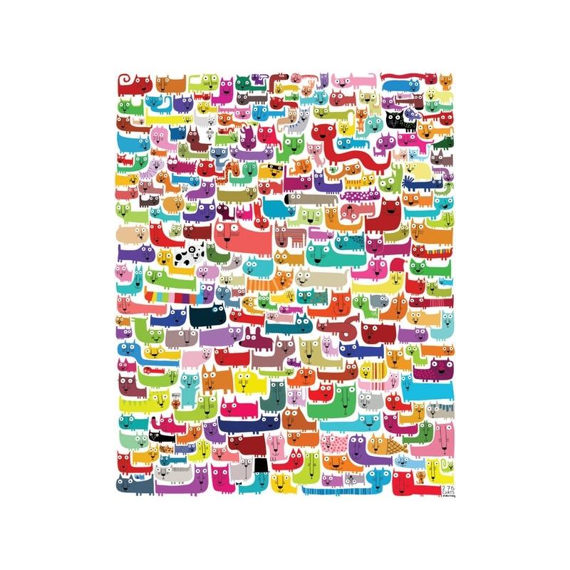 Affiche 40x50 276 chats