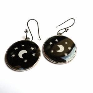 Boucles d'oreilles Sous la lune