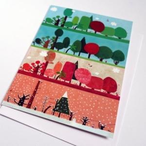 Carte double L'arboretum des quatre saions