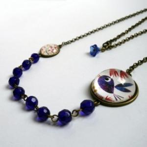 Collier Bel oiseau bleu