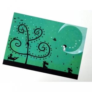 Carte postale Comment les coeurs