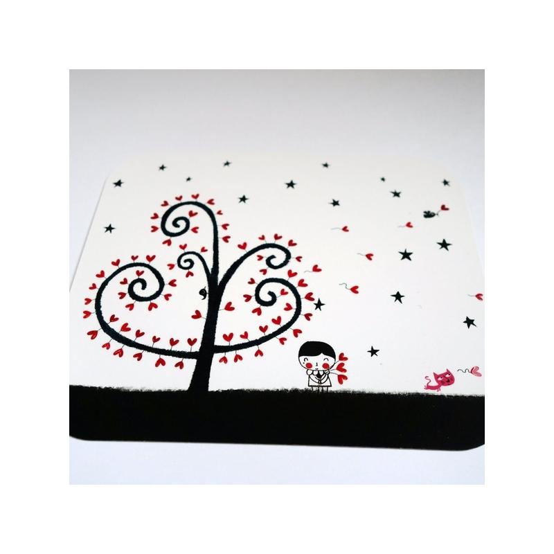 Carte d'art L'arbre de lune