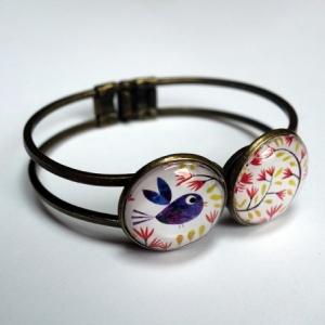 Bracelet double Bel oiseau bleu