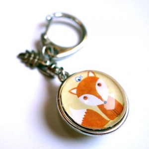 Reversible keychain Little fox