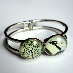 Double bracelet Cyr the cat and the spiral tree