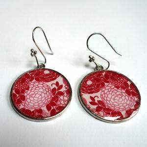 Earrings Red hydrangeas