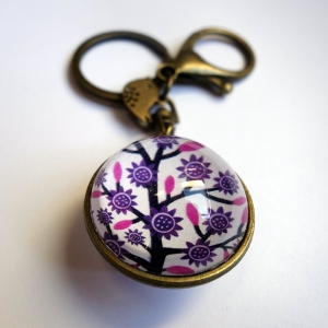 Reversible keychain Violet tree
