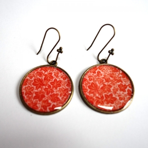 Earrings Orange maple leaves