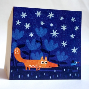 Card Blue fox