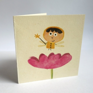Card A fairy in a flower